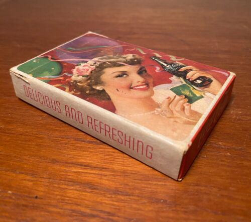 Coca Cola 1950s Party Girl Complete Deck Of Playing Cards In Box