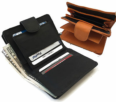 Leather French Purse Id Wallet (Genuine Leather Women's French Wallet Money ID Credit Card Coin Purse  )