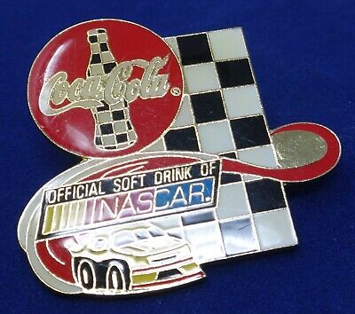 VINTAGE NASCAR ©1998 COCA COLA 'Official Soft Drink' Collectors Pin / Pinback