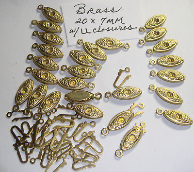 BRASS FILIGREE Box Clasps 1 STRAND W CLOSURE  25 + PCS