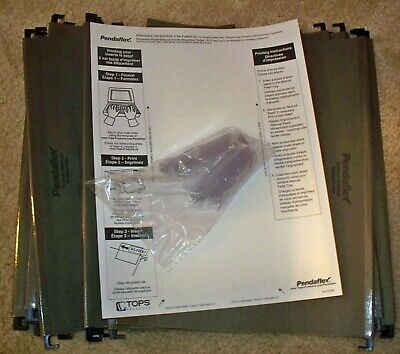 Pendaflex Surehook 5-tab Hanging File Folders Letter Size Green 20box 6152 15