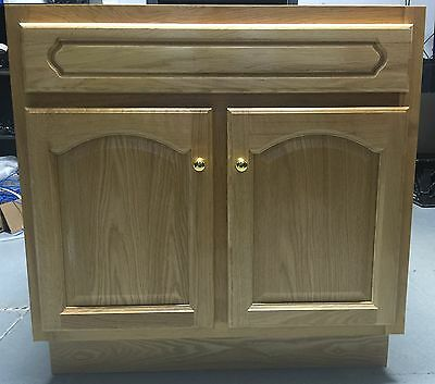 (TBA All Wood Deluxe Oak Bathroom Vanity Cabinet Golden Oak LD-3021)
