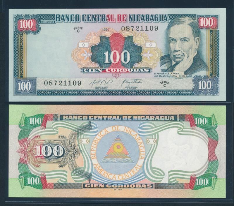 [90740] Nicaragua 1997- Serie C 100 Cordobas Bank Note UNC P187