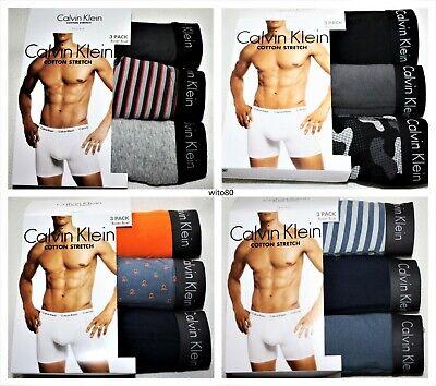 CALVIN KLEIN mens cotton stretch BOXER BRIEFS TRUNKS PACK UNDERWEAR S M L XL