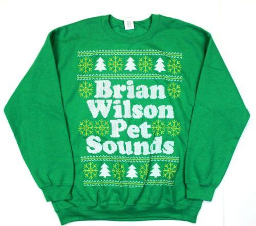Brian Wilson Beach Boys Pet Sounds Tacky Ugly Christmas Sweater Sweatshirt - L