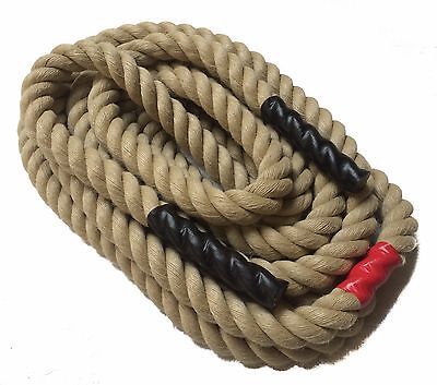 32mm Poly Hemp Tug of War Rope x 10metres ,Fitness ,Exercise ,Battle ,Gym.