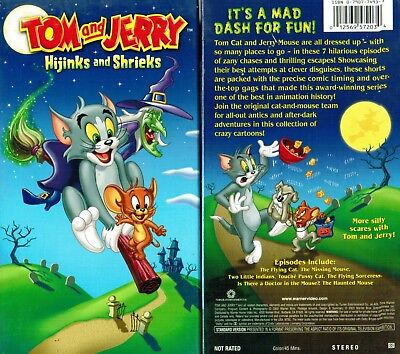 Tom And Jerry Hijinks And Shrieks VHS Video Tape New Slip Cover