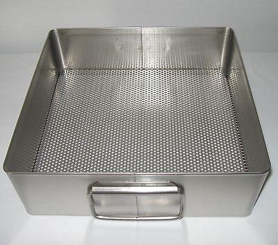 New Usa Stainless 10 12 X 11 X 3 12 Autoclave Sterilization Basket Tray