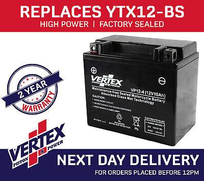 TRIUMPH BONNEVILLE T100 SE 09  VERTEX BATTERY VP12 4 REPLACES YTX12 BS