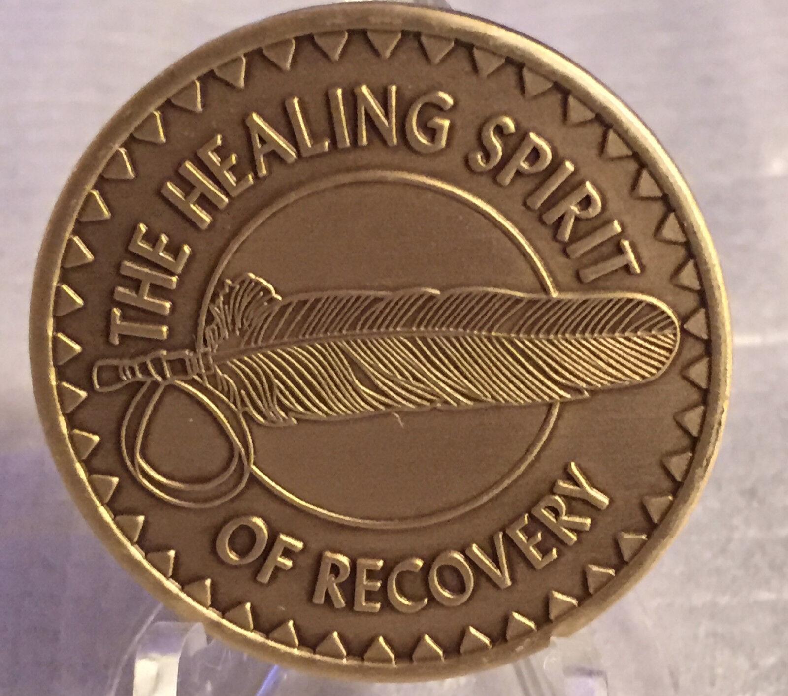 Healing Spirit of Recovery Medallion Chip Coin AA NA Great Spirit Prayer Bronze