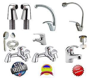 Bathroom Taps Lever Set Basin Mono Sink Bath Filler Shower ...