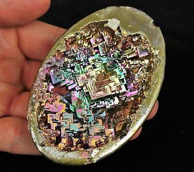 GEMCORE: One(1) Lg Rainbow Bismuth Egg Geode Specimen Crystal Chakra Healing