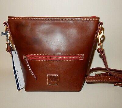 New Dooney & Bourke Fielding Florentine Mini Hobo Crossbody Bag Chestnut