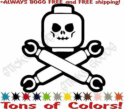 Lego Movie Skull and Crossbones Vinyl Decal Sticker Car Window Tablet USA! BOGO! - Skull And Crossbones Stickers