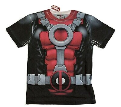 Marvel Mens Deadpool Costume Cosplay Shirt NWT S, M, L, XL, 3XL