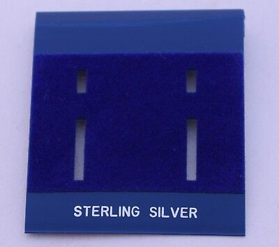 75ct Sterling Silver Blue Plastic Holder Hanging Earring Display Card