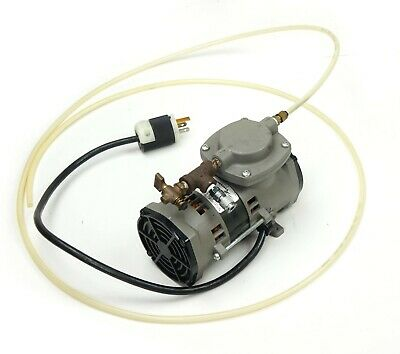 Thomas Model 107cab18tfel-c Oil-less Vacuum Pump 115v 60hz 1.5a Up To 22.0 In.hg