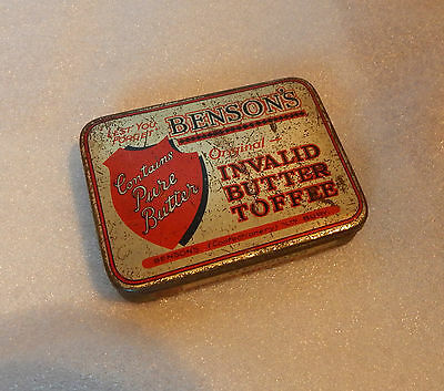 Vintage Bensons Original Invalid toffee tin lest we Forget
