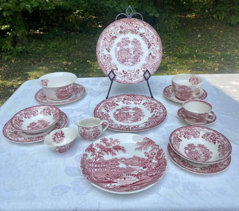 15 Piece Mixed Lot Tonguin Royal Staffordshire England Meakin-Cliff Dinnerware
