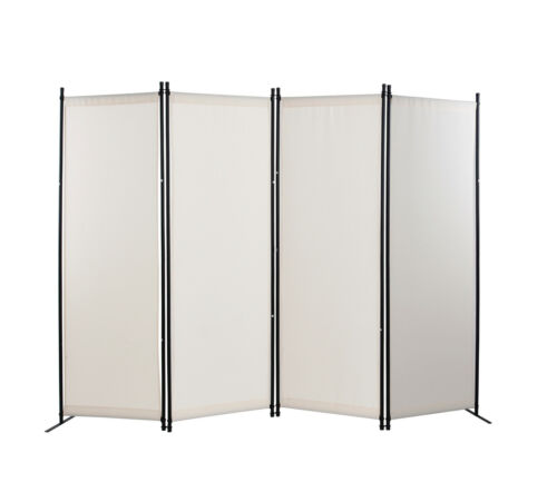 4 Panel Room Divider Privacy Screens Home Office Accents Furniture Folding Steel