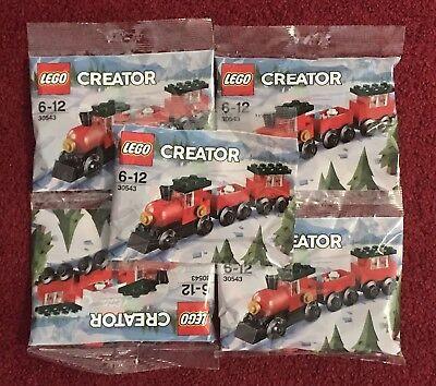 Lego X5 Sets Creator 30543 Christmas Train Promotiobal Holiday New Mini Poly Bag