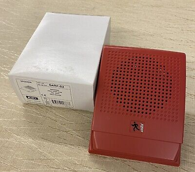 New Est Edwards G4rf-s2 24v Red Fire Alarm Speaker Qty Available