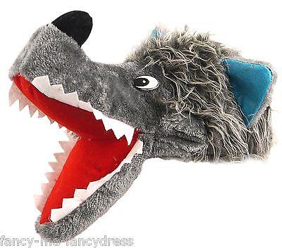 Herren Damen Grau Großer Böser Wolf Tier Hund Kostüm Kleid Outfit Neuheit (Großer Hunde Wolf Kostüm)