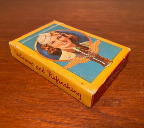 Coca Cola 1943 Airline Stewardess Complete Deck Of Playing Cards In Box