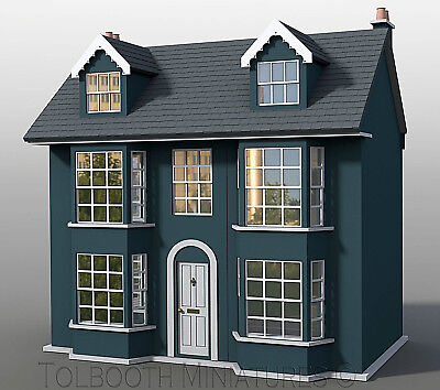 Grove House Dolls House 1:12 Scale  - Unpainted Dolls House Kit