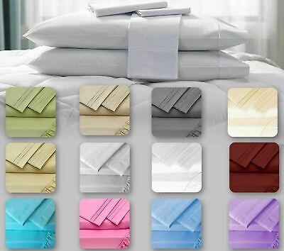 Hotel Luxury 4Pcs Bed Sheets Set Softest Bedding 1800 Collection-Deep (Luxury Hotel Collection)