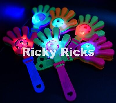 Clapper Hands (12 Light Up Clapper Hands Flashing Noise Maker Clapping LED Cheering Party)