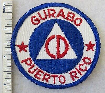 GURABO PUERTO RICO CIVIL DEFENSE PATCH Vintage ORIGINAL