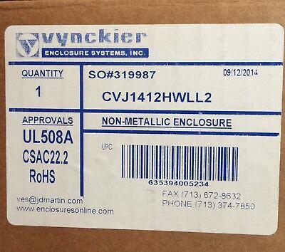 Vynckier Vj1412hwll2 14 X 12 X 6 Nema 4x Ral7035 Fiberglass Enclosure