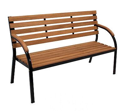 Gartenbank Parkbank Sitzbank Gartenmöbel Bank BOLERO 3-sitzer Metall + Holz