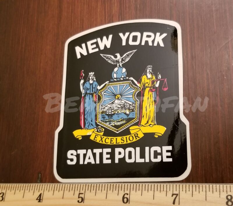 NYS NEW YORK STATE POLICE OUTSIDE STICKER OFFICIAL