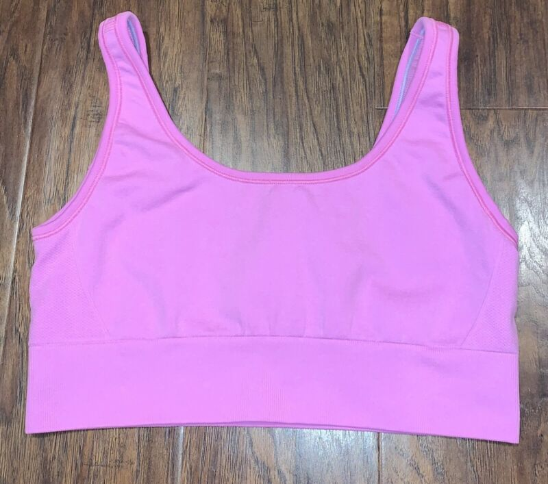 Lululemon Ivivva Sports Bra Pink Girls Size 14 Athletic Activewear Top