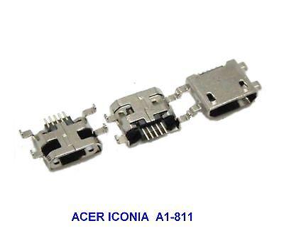 Acer Iconia A1-811 Conector Carga Micro USB A Soldar con Autógena (46A)