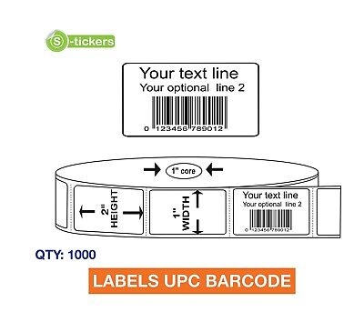 1000 Custom Printed Upc Ean Barcode Labels Email Your Legal Upc Number To Us
