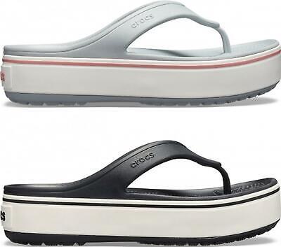 Crocs 205681 CROCBAND PLATFORM FLIP Ladies Summer Modern Pla