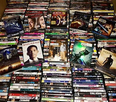 100 DVD Movies Assorted Wholesale Lot Bulk Used DVDs 100 ALL MOVIES! $1.5K MSRP!