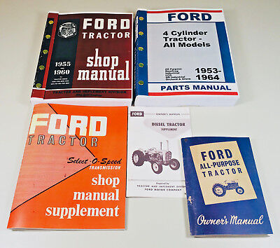 Lot Ford 2000 4000 Series Tractor Service Repair Operators Parts Manuals 1962-65