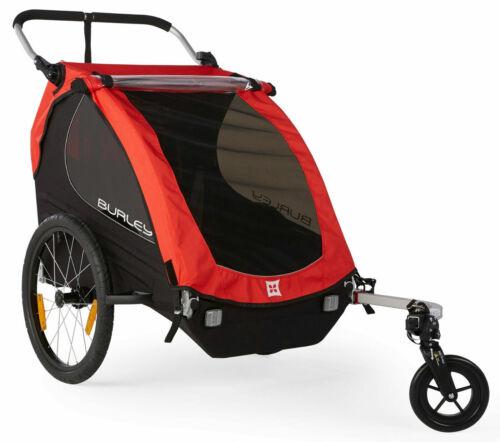 Burley Honey Bee Compact Fold 2 Kids Bike Bicycle Trailer Double Baby Stroller