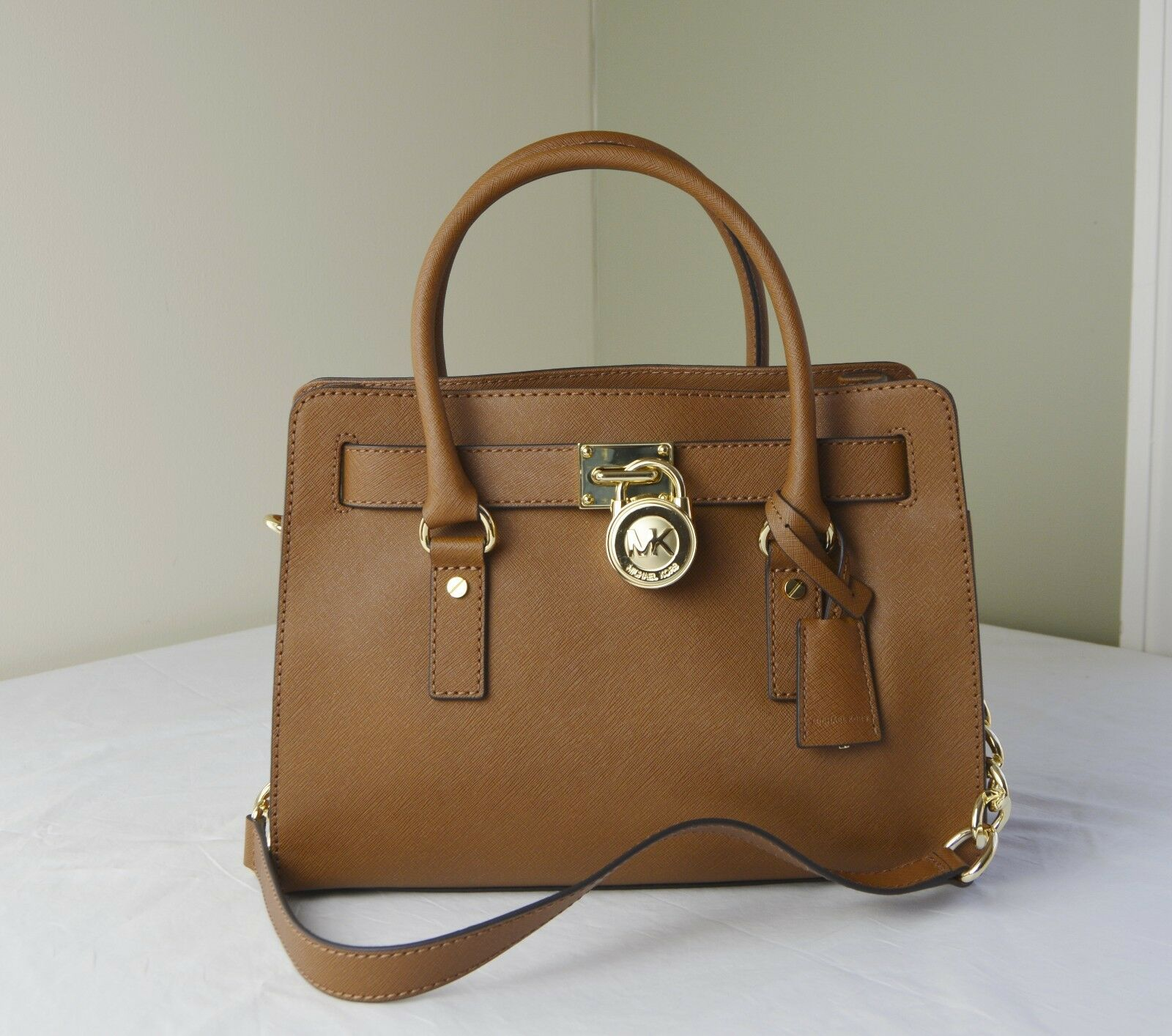 Michael Kors - Michael Kors Hamilton EW Satchel Luggage Saffiano Leather With Gold Hardware