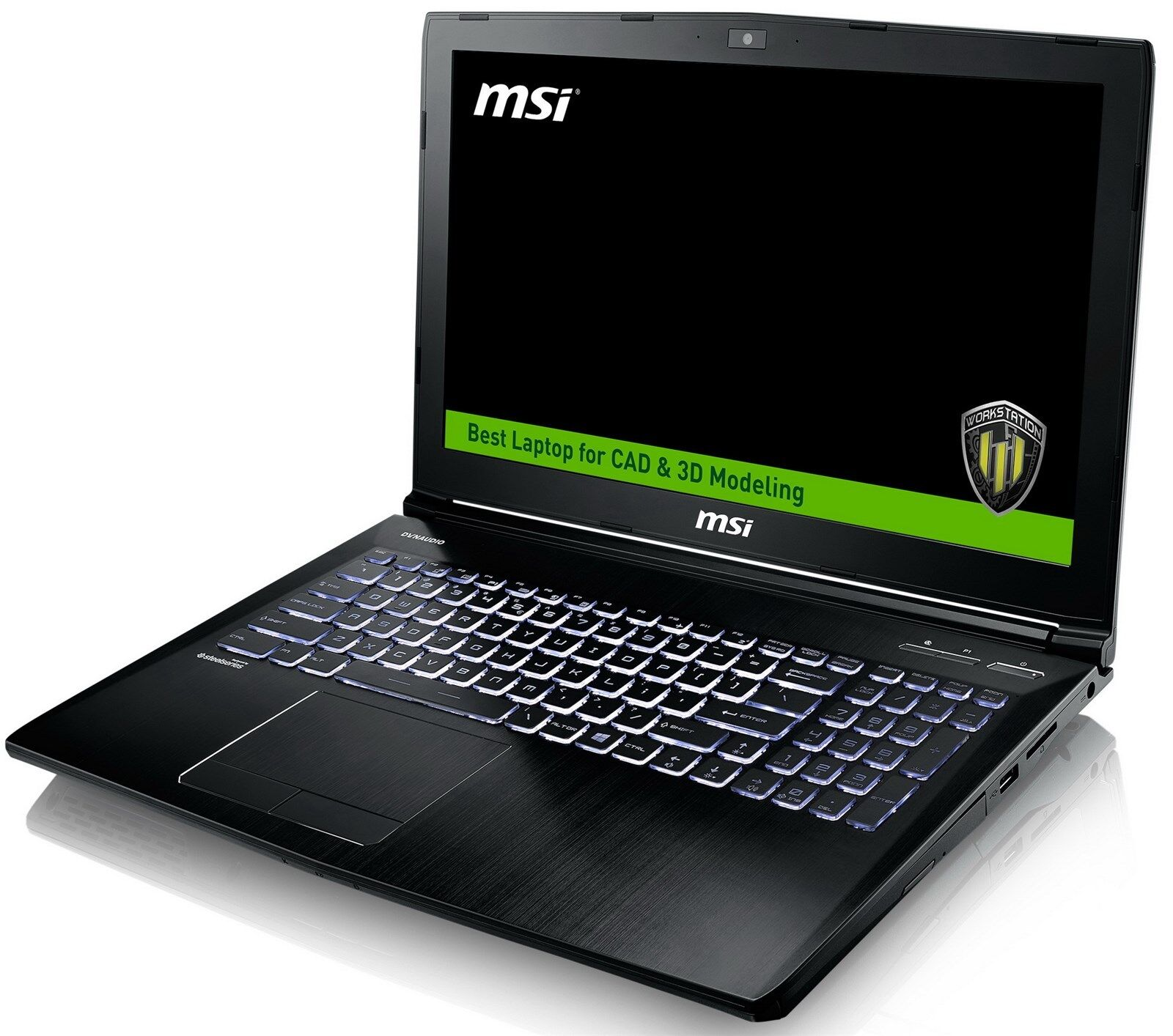 "MSI WE62 15.6"" FHD Core i7-7700HQ Quadro M2200/M1200 CAD&3D Modeling Workstation"
