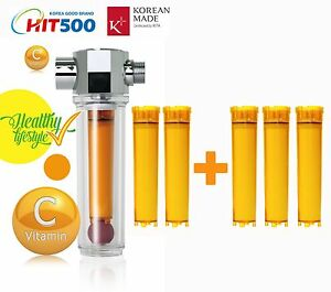 vitamin c inline shower filter with filter cartridge vita fresh shower filter. Black Bedroom Furniture Sets. Home Design Ideas