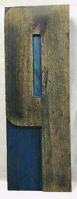 Vintage Huge Wood Letterpress Print Type Printers Block Letter P 10 Patina