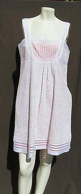 Cynthia Steffe USA Weiß Korallenrot Bestickt Öse Spitzen-Overlay Kleid 12