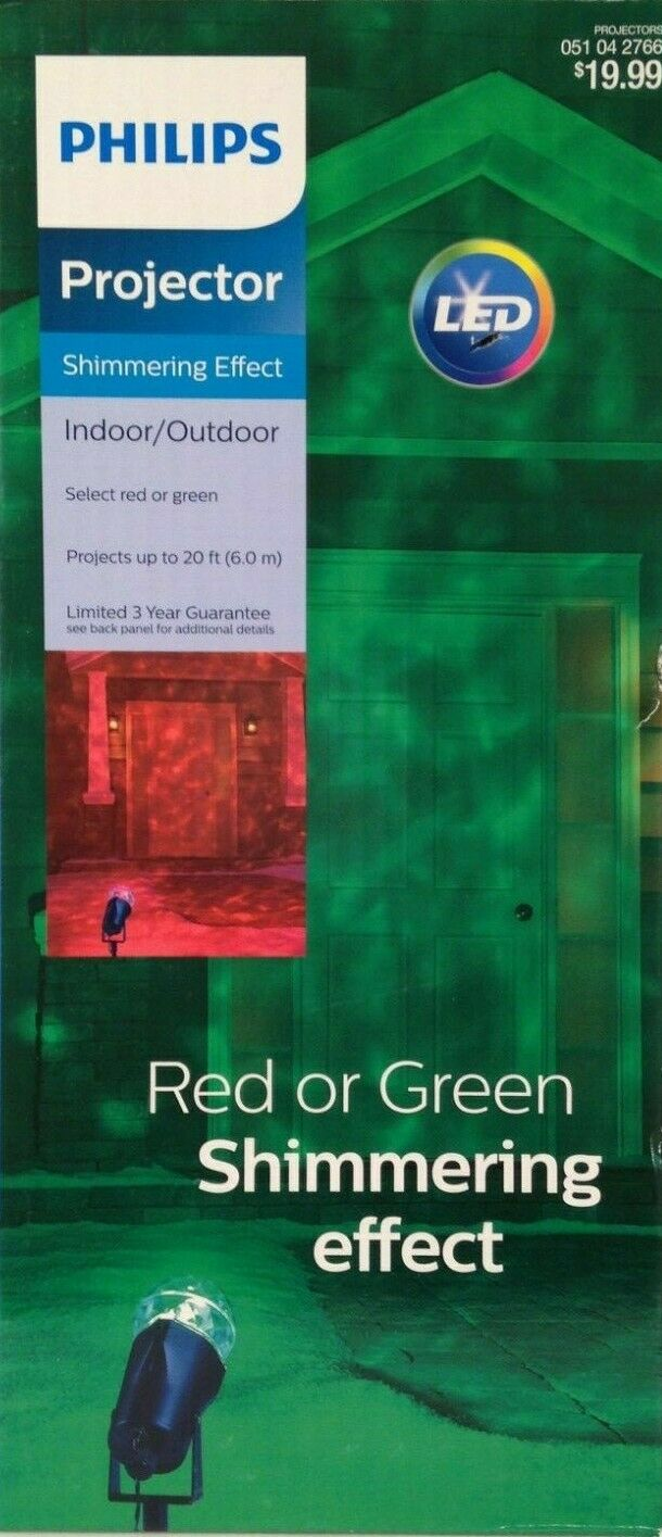 Philips Projector Shimmering Effect Christmas Red or Green I