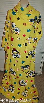Girls Wrappie SPONGE BOB Yellow ONE SIZE FITS MOST Slip Arm In BACK OPEN Robe](Spongebob Robe)