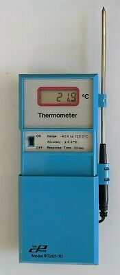 Cole Parmer Digital Thermometer Model 90201-10 Stainless Probe